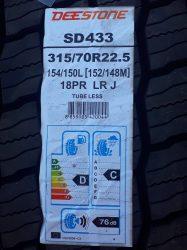 Deestone 315/70R22.5  M+S 3PMSF ЗАДНИ